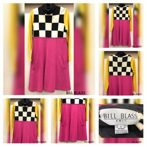 POSHMARK BILL BLASS Pop Art Turtle Neck 80's Dress